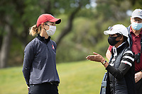 STANFORD, CA - APRIL 24: Anne Walker, Condoleezza Rice at Stanford Golf Course on April 24, 2021 in Stanford, California.