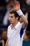 SHANGHAI, CHINA - OCTOBER 16:  Andy Murray of Great Britain celebrates match point to Juan Monaco of Argentina during day six of the 2010 Shanghai Rolex Masters at the Shanghai Qi Zhong Tennis Center on October 16, 2010 in Shanghai, China.  (Photo by Victor Fraile/The Power of Sport Images) *** Local Caption *** Andy Murray
