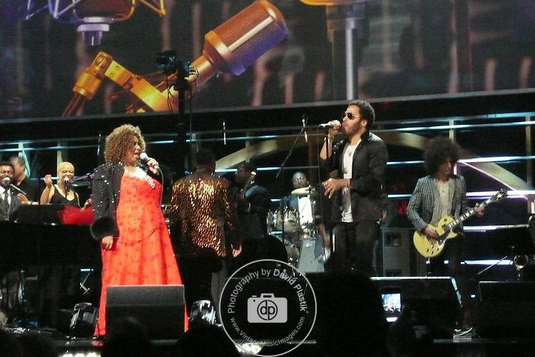 ROCK & ROLL HALL OF FAME CONCERT AT MADISON SQUARE GARDEN Lenny Kravitz,