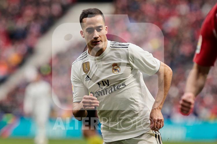 Real Madrid's Lucas Vazquez during La Liga match between Atletico de Madrid and Real Madrid at Wanda Metropolitano Stadium in Madrid, Spain. February 09, 2019. (ALTERPHOTOS/A. Perez Meca)