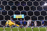LONDON, ENGLAND - JULY 06: Alvaro Morata of Spain scores their side's first goal past Gianluigi Donnarumma of Italy during the UEFA Euro 2020 Championship Semi-final match between Italy and Spain at Wembley Stadium on July 06, 2021 in London, England. (Photo by Alex Morton - UEFA/UEFA via Getty Images)<br /> Photo Uefa/Insidefoto ITA ONLY