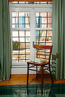 white french window
