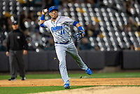 Omaha Storm Chasers Angelo Castellano (44) during a game against the St. Paul Saints on September 7, 2021 at CHS Field in St. Paul, Minnesota.  (Brace Hemmelgarn/Four Seam Images)