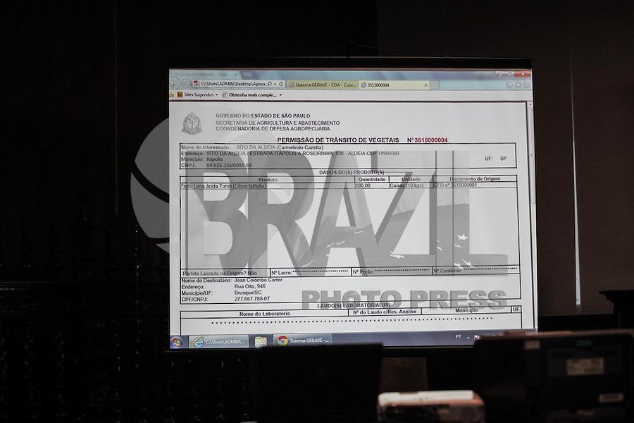 SAO PAULO, SP, 17.03.2015 - GOVERNADOR GERALDO ALCKMIN ANUNCIA PERMISSÃO DE TRANSITO VEGETAL - PALACIO DOS BANDEIRANTES - O governador Geraldo Alckmin anuncia o inicio da Operação da Permissão de Transito de Vegetais (PVT), nesta terça-feira,17, no Palacio dos Bandeirantes, zona sul de São Paulo. O novo sistema informatizado, será emitido online e ajudará os agricultores a ter mais agilidade no processo de emissão da PVT.(Douglas Pingituro / Brazil Photo Press)