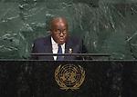 72 General Debate – 20 September <br /> <br /> His Excellency Nana Addo Dankwa Akufo-Addo, President of the Republic of Ghana