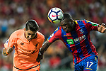Liverpool FC forward Roberto Firmino (L) battles for the ball with Crystal Palace forward Christian Benteke (R) during the Premier League Asia Trophy match between Liverpool FC and Crystal Palace FC at Hong Kong Stadium on 19 July 2017, in Hong Kong, China. Photo by Yu Chun Christopher Wong / Power Sport Images
