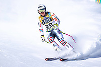 13th February 2021, Cortina, Italy; FIS World Championship Womens Downhill Skiing;  Tiffany Gauthier of France finishes her womens Downhill Race