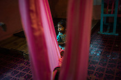 A child at the day care centre in the Pedro Tea Estate in Nuwareliya in Central Sri Lanka.  Photo: Sanjit Das/Panos