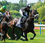 July 5, 2021: Kinenos, ridden by Jose Lezcano, during the 2021 running of the Grand Couturier S. at Belmont Park in Elmont, NY. Sophie Shore/ESW/CSM
