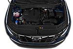 Car Stock 2022 Hyundai Tucson Limited 5 Door SUV Engine  high angle detail view