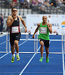 11.09.2011, Olympic Stadium / Olympiastadion, Berlin, GER, ISTAF 2011, im Bild Georg FLEISCHHAUER (GER) und Cornel FREDERICKS  (RSA) in der Disziplin Maenner - 400M Huerden // Georg FLEISCHHAUER (GER) and Cornel FREDERICKS  (RSA) competing in Men - 400M Hurdles during the ISTAF 2011 held in Berlin, GER, EXPA Pictures © 2011, PhotoCredit: EXPA/ S. Kiesewetter