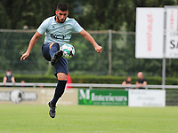 Deniz Undav (9) of Union  does a control during a preseason friendly soccer game between Tempo Overijse and Royale Union Saint-Gilloise, Saturday 29th of June 2021 in Overijse, Belgium. Photo: SPORTPIX.BE   SEVIL OKTEM