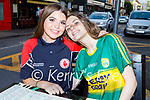 Enjoying the evening at the KHA Restaurant in Killarney on Saturday, l to r: Seated: Lara Hoare (Tyrone) and Katie O'Driscol from Killarney .