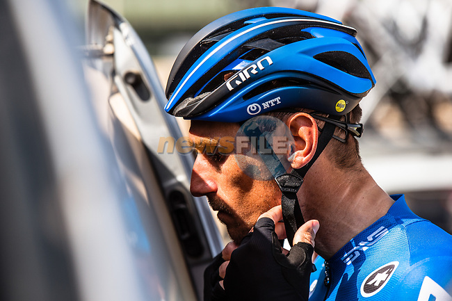 Roman Kreuziger (CZE) NTT Pro Cycling Team at sign on before the start of Stage 1 of the Saudi Tour 2020 running 173km form Saudi Arabian Olympic Committee to Jaww, Saudi Arabia. 4th February 2020. <br /> Picture: ASO/Kåre Dehlie Thorstad | Cyclefile<br /> All photos usage must carry mandatory copyright credit (© Cyclefile | ASO/Kåre Dehlie Thorstad)