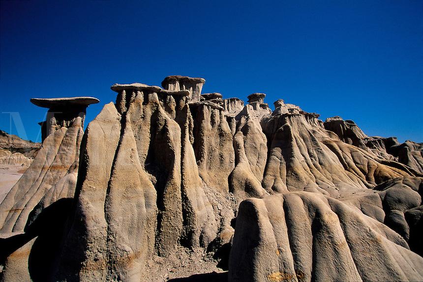 Eroded formations Theodore Roosevelt National Park north unit North Dakota USA.