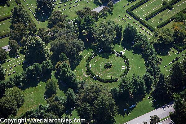 aerial photograph cemetery, Lexington, Kentucky