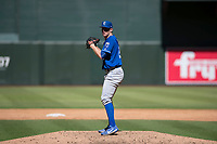Kansas City Royals relief pitcher Carter Hope (32) prepares to deliver a pitch during an Instructional League game against the Arizona Diamondbacks at Chase Field on October 14, 2017 in Scottsdale, Arizona. (Zachary Lucy/Four Seam Images)