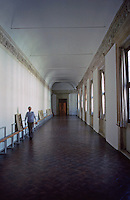 Urbino:   Ducal Palace--hallway.  Photo '83.