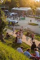 France, Seine-Maritime (76), Le Havre, classé Patrimoine Mondial de l'UNESCO,  Les jardins suspendus du Havre .  Festival musical, Festival moZ'aïque   //  France, Seine Maritime, Le Havre, listed as World Heritage by UNESCO, The hanging gardens of Le Havre.  music festival