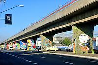 SAO PAULO, SP, 26 DE JUNHO 2012 – Detalhe de grafites feitos em viaduto na Avenida Cruzeiro do Sul, proximo a estacao Carandiru do metro. (FOTO: THAIS RIBEIRO / BRAZIL PHOTO PRESS).