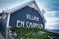 sites of <br /> the  Festival en Chanson of Petite-Vallee in Gaspesia in 2014. <br /> Photo : Agence Quebec Presse  - Frederic Seguin