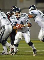 Jim Ballard Toronto Argonauts quarterback 2002. Copyright photograph Scott Grant