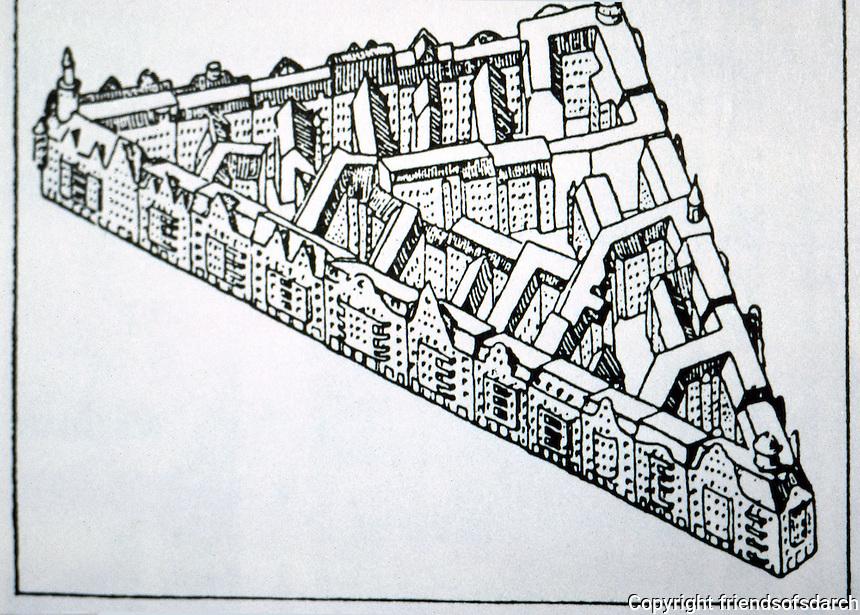 Berlin: Housing Blocks according to the development plan drawn up in 1897. BRECHT'S BERLIN by Von Eckhardt. Reference only.