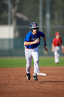 Joshua Napier (66) of Alexandria, Kentucky during the Baseball Factory Pirate City Christmas Camp & Tournament on December 30, 2018 at Pirate City in Bradenton, Florida. (Mike Janes/Four Seam Images)