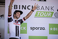 final stage winner Michael Matthews (AUS/Sunweb). <br /> <br /> Binckbank Tour 2018 (UCI World Tour)<br /> Stage 7: Lac de l'eau d'heure (BE) - Geraardsbergen (BE) 212.7km