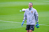 goalkeepercoach Sebastien Figue of Belgium pictured before  a soccer game between the national teams Under17 Youth teams of Belgium and Luxemburg in the Qualifying round in group 3 on wednesday 6 th of October 2020  in Tubize , Belgium . PHOTO SPORTPIX | STIJN AUDOOREN