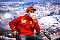 23rd September 2021; Sochi, Russia;   F1 Grand Prix of Russia 16 Charles Leclerc MON, Scuderia Ferrari Mission Winnow, F1 Grand Prix of Russia at Sochi Autodrom   driver press conference
