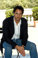 "RAOUL BOVA.Photcall for the film ""Io, l'altro"", Campidoglio, Rome, Italy..May 10th, 2007.half length sitting blue jacket  .CAP/CAV.©Luca Cavallari/Capital Pictures"