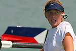 Rowing, Mary Whipple, coxswain, US women's eight, Gold Medal 2008 Olympics. Image taken 2003 FISA World Rowing Championships, Milan, Italy.
