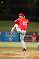 AZL Angels relief pitcher Jason Alexander (46) delivers a pitch to the plate against the AZL White Sox on August 14, 2017 at Diablo Stadium in Tempe, Arizona. AZL Angels defeated the AZL White Sox 3-2. (Zachary Lucy/Four Seam Images)