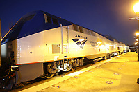 ALEXANDRIA, VA - JANUARY 13: Amtrak Unveils Locomotive to Pull President-Elect Joe Biden's Inaugural Train to Washington D.C. during his inauguration next week. Alexandria, Virginia on January 13, 2021. Credit: mpi34/MediaPunch