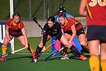 Canterbury 1 v Southland. 2021 National Women's Under-18 Hockey Tournament day four at National Hockey Stadium in Wellington, New Zealand on Wednesday, 14 July 2021. Photo: Dave Lintott / lintottphoto.co.nz https://bwmedia.photoshelter.com/gallery-collection/Under-18-Hockey-Nationals-2021/C0000T49v1kln8qk