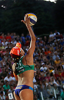 Brazil's Taiana de Souza Lima in action during the women's final match between Brazil and United States at the Beach Volleyball World Tour Grand Slam, Foro Italico, Rome, 23 June 2013. Brazil defeated United States 2-1.<br /> UPDATE IMAGES PRESS/Isabella Bonotto