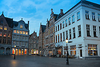 Shops And Restaurants in Former Guild Houses On Market Square, Brugge
