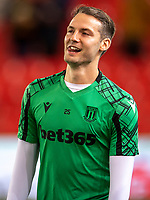 1st October 2021;  Bet365 Stadium, Stoke, Staffordshire, England; EFL Championship football, Stoke City versus West Bromwich Albion; Nick Powell of Stoke City during the warm up
