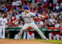 22 June 2019: Toronto Blue Jays pitcher Ken Giles on the mound in the 9th inning to close out the game against the Boston Red Sox at Fenway :Park in Boston, MA. The Blue Jays rallied to defeat the Red Sox 8-7 in the 2nd game of their 3-game series. Mandatory Credit: Ed Wolfstein Photo *** RAW (NEF) Image File Available ***