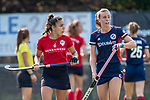 Mannheim, Germany, September 12: During the 1. Bundesliga women fieldhockey match between Mannheimer HC (blue) and Ruesselsheimer RK (red) on September 12, 2020 at Am Neckarkanal in Mannheim, Germany. Final score 2-0 (HT 1-0). (Copyright Dirk Markgraf / www.265-images.com) *** Agues Habif #5 of Mannheimer HC