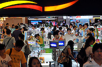 A shop selling various electrical products in Guangzhou, China. The financial crisis won't have too much impact on Chinese consuming market. According to a survey by Nielsen of 50 countries and regions, only 35 percent of Chinese people believed the domestic economy was in a contraction. The figure was the lowest among the 50 world markets..