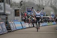 European Champion Toon Aerts (BEL/Telenet-Fidea) victoriously in the men's elite race<br /> <br /> GP Sven Nys 2017