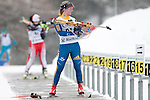 MARTELL-VAL MARTELLO, ITALY - FEBRUARY 02: BRORSSON Mona (SWE) during the Women 7.5 km Sprint at the IBU Cup Biathlon 6 on February 02, 2013 in Martell-Val Martello, Italy. (Photo by Dirk Markgraf)