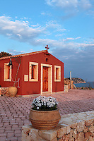 traditional church with red walls