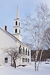 The Congregational Church in the center of Newfane, VT, USA