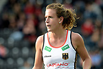 NED - Amsterdam, Netherlands, August 20: During the women Pool B group match between Germany (white) and England (red) at the Rabo EuroHockey Championships 2017 August 20, 2017 at Wagener Stadium in Amsterdam, Netherlands. Final score 1-0. (Photo by Dirk Markgraf / www.265-images.com) *** Local caption *** Janne Mueller-Wieland #14 of Germany