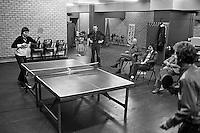 1978, ABN Tennis Toernooi, Jimmy Connors slaat een pingpong balletje met de pers