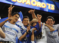 Honduras fans.  Honduras defeated Haiti 2-0 in the first round of the CONCACAF Gold Cup, at Red Bull Arena, Monday July 8 , 2013.