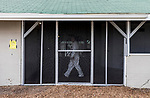 LOUISVILLE, KY - MAY 02: A handler walks through the quarantine barn at Churchill Downs on May 2, 2018 in Louisville, Kentucky. (Photo by Alex Evers/Eclipse Sportswire/Getty Images)